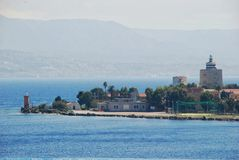 Scenic view of the Italian port of Messina Royalty Free Stock Photo