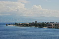 Scenic view of the Italian port of Messina Royalty Free Stock Images