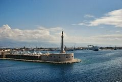 Scenic view of the Italian port of Messina. Sicilia Royalty Free Stock Images