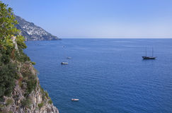 Scenic view of the Italy coast Royalty Free Stock Image