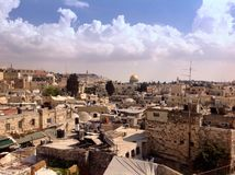 Scenic view of Jerusalem Stock Photos