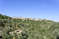Scenic view of Jerusalem suburb. Royalty Free Stock Photos