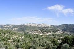 Scenic view of Jerusalem suburb. Stock Photos