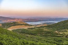 Scenic view of the Jordanelle State Park in Utah. Scenic view of the Jordanelle State Park in Wasatch County, Utah. Along the shores of the Jordanelle royalty free stock image