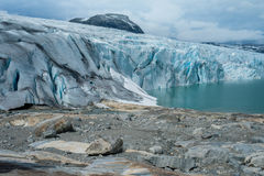 Scenic view of Jostedalsbreen glacier. Stock Photo
