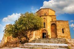 Scenic view of Jvari Monastery in Mtskheta, Georgia Royalty Free Stock Photos