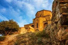 Scenic view of Jvari Monastery in Mtskheta, Georgia Stock Photography