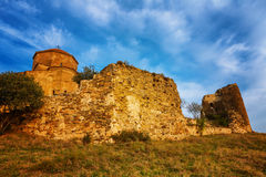 Scenic view of Jvari Monastery in Mtskheta, Georgia Royalty Free Stock Photo