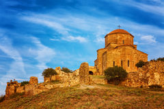 Scenic view of Jvari Monastery in Mtskheta, Georgia Stock Photos