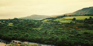 A scenic view of a Kerry Mountains and surrounding areas in County Kerry. Royalty Free Stock Image