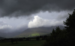 Scenic view of Kerry Mountains in thunderclouds Stock Image