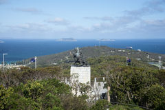 A scenic view of King George Sound from Mount Clarence in Albany Stock Image