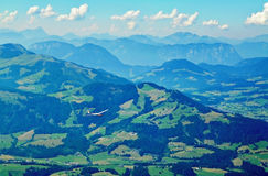 Scenic view from Kitzbuhel peak,Tirol,Austria Stock Photo