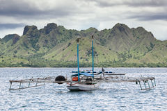 Fishing boat, Komodo Island - Indonesia royalty free stock photo
