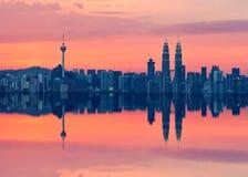 Scenic view of Kuala Lumpur city skyline Royalty Free Stock Photos