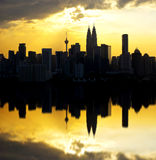Scenic view of Kuala Lumpur city skyline Stock Photography