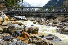 Scenic View of Kunhar River in Naran Kaghan Valley, Pakistan Royalty Free Stock Image