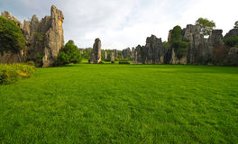 Scenic view at Kunming Stone forest or Shilin Stock Photo