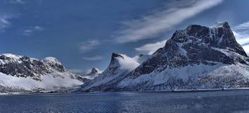 Scenic View of Lake Against Mountain Range stock photo