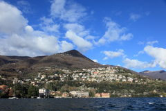 Scenic view of lake Como, Northern Italy Stock Image
