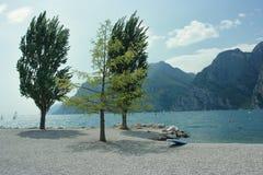 Scenic view of Lake Garda Stock Photo