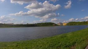 A scenic view of the Lake in Park. A scenic view of the Lake in the Pak stock footage
