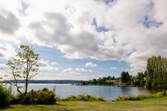 Scenic view of Lake Washington Stock Image