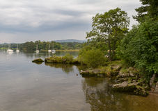 Scenic View of Lake WIndermere in Ambleside, Cumbria, UK Royalty Free Stock Photo