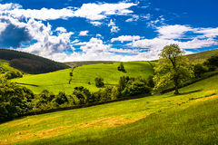 Scenic view in Lancashire. Hills on Springtime in Forest of Bowland, Lancashire, England UK royalty free stock images
