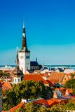 Scenic View Landscape Old City Town Tallinn In Royalty Free Stock Photography