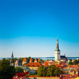 Scenic View Landscape Old City Town Tallinn In Estonia Royalty Free Stock Photos