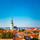 Scenic View Landscape Old City Town Tallinn In Estonia Stock Images