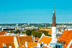 Scenic View Landscape Old City Town Tallinn In Estonia Royalty Free Stock Image