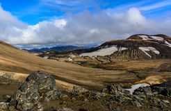 Scenic view on laugavegur trek Royalty Free Stock Photography