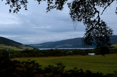 Scenic View of Loch Ness and the Highlands in Scotland Stock Photos