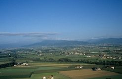 Scenic view of Lombardy, Italy. Royalty Free Stock Photography