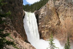 Scenic view of Lower Falls Stock Photography
