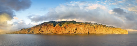 Panoramic view of sunset landscape, Madeira Island - Portugal Royalty Free Stock Photos