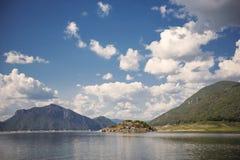 Scenic view of Mae Ping lake Bhumibol dam Tak ,Thailand. Royalty Free Stock Photo