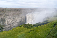 Scenic view of majestic Dettifoss waterfall Royalty Free Stock Photography