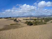 Scenic View Of Maspalomas Dunes Stock Photo