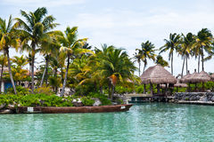 Scenic View of a Mayan Riviera Jetty Stock Images