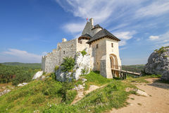 Scenic view of the medieval castle in Bobolice village. Poland Royalty Free Stock Photography