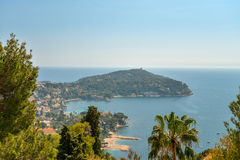 Scenic view of the Mediterranean coastline Stock Photos