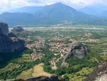 Scenic view of Meteora Royalty Free Stock Photo