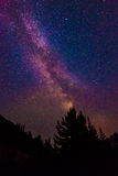 Scenic view of Milky Way   and star over Diablo lake in North Ca Stock Photography