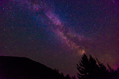 Scenic view of Milky Way   and star over Diablo lake in North Ca Royalty Free Stock Photos