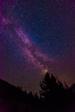 Scenic view of Milky Way   and star over Diablo lake in North Ca Stock Photo