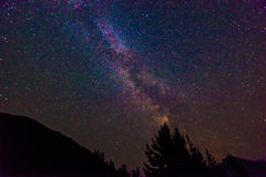 Scenic view of Milky Way   and star over Diablo lake in North Cascade national park,Wa,USA.. Royalty Free Stock Photography