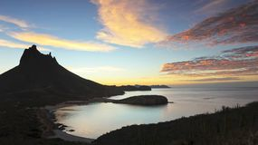 A Scenic View from Mirador Lookout, San Carlos, Sonora, Mexico. A Scenic Sunrise View from Mirador Lookout, San Carlos, Sonora, Mexico stock image